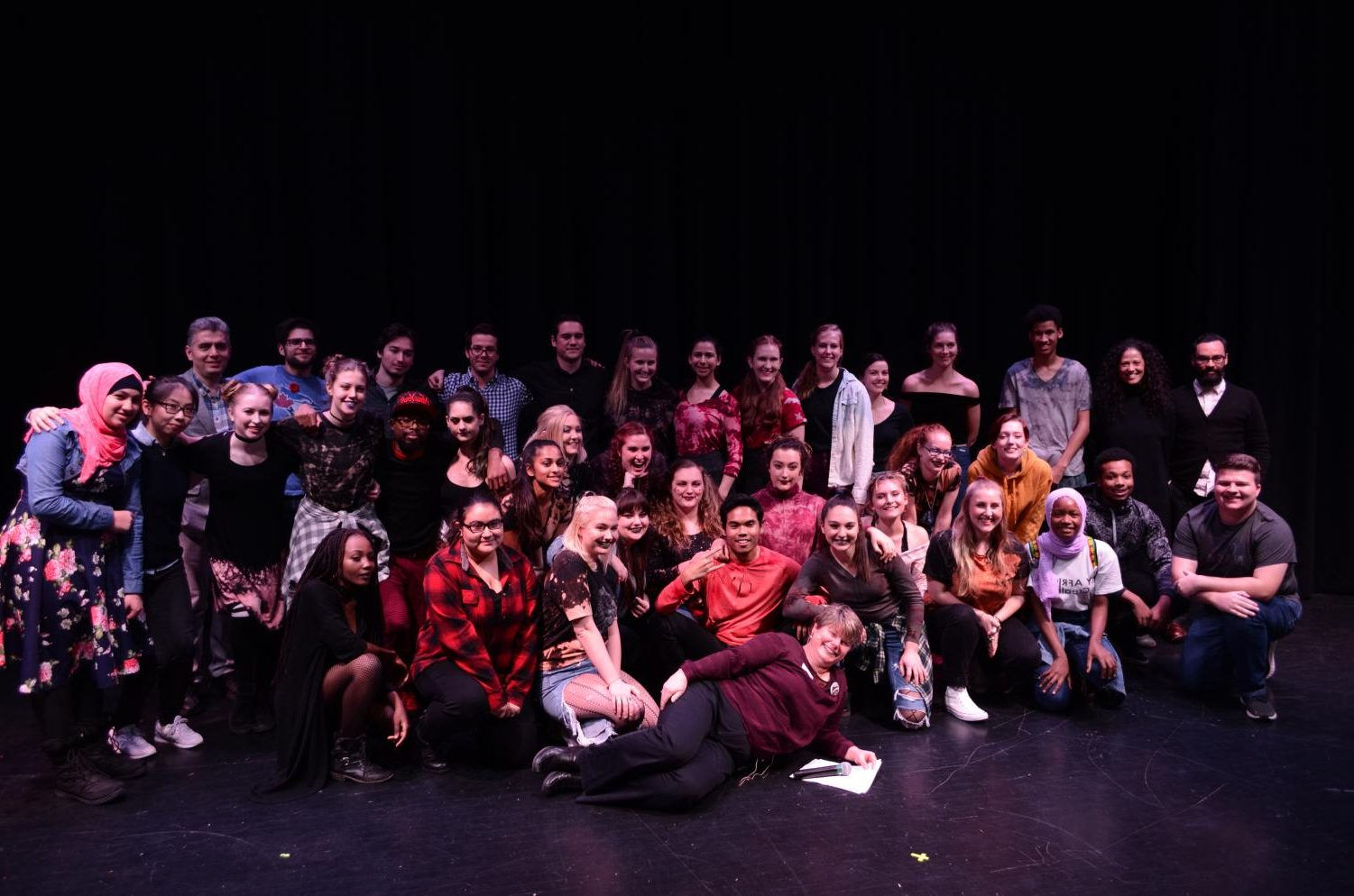 All the participants of Nations United took a group photo after the show