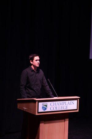 Champlain College student, Keegan Allen