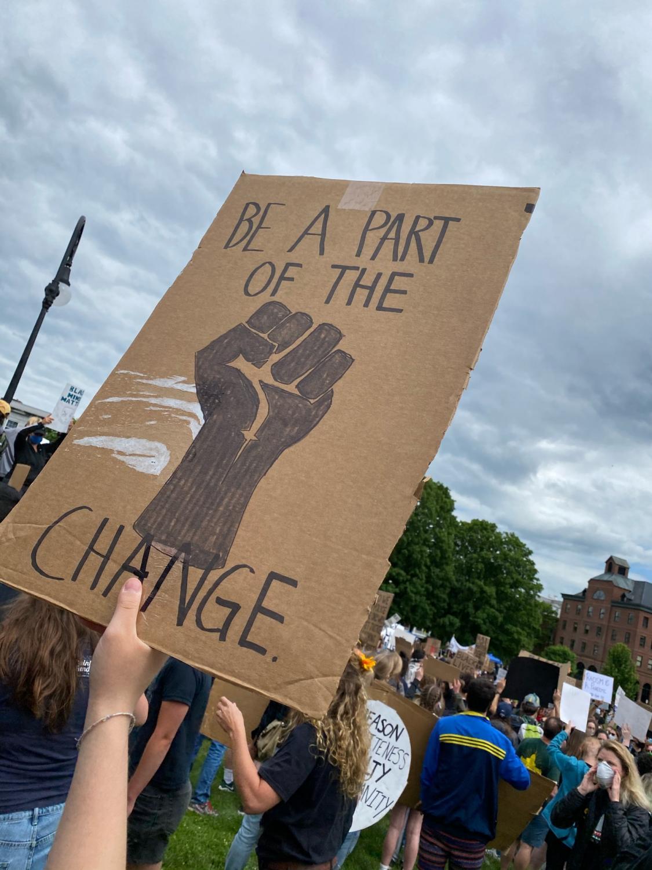 Photo taken at Black Lives Matter protest in Montpelier, VT.