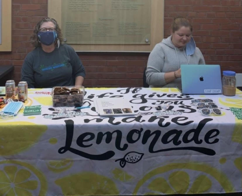 The Lemonade Stand outside the IDX Dining Hall.