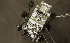 The Perseverance rover touches down on Mars's surface. Credit: Perseverance rover for NASA