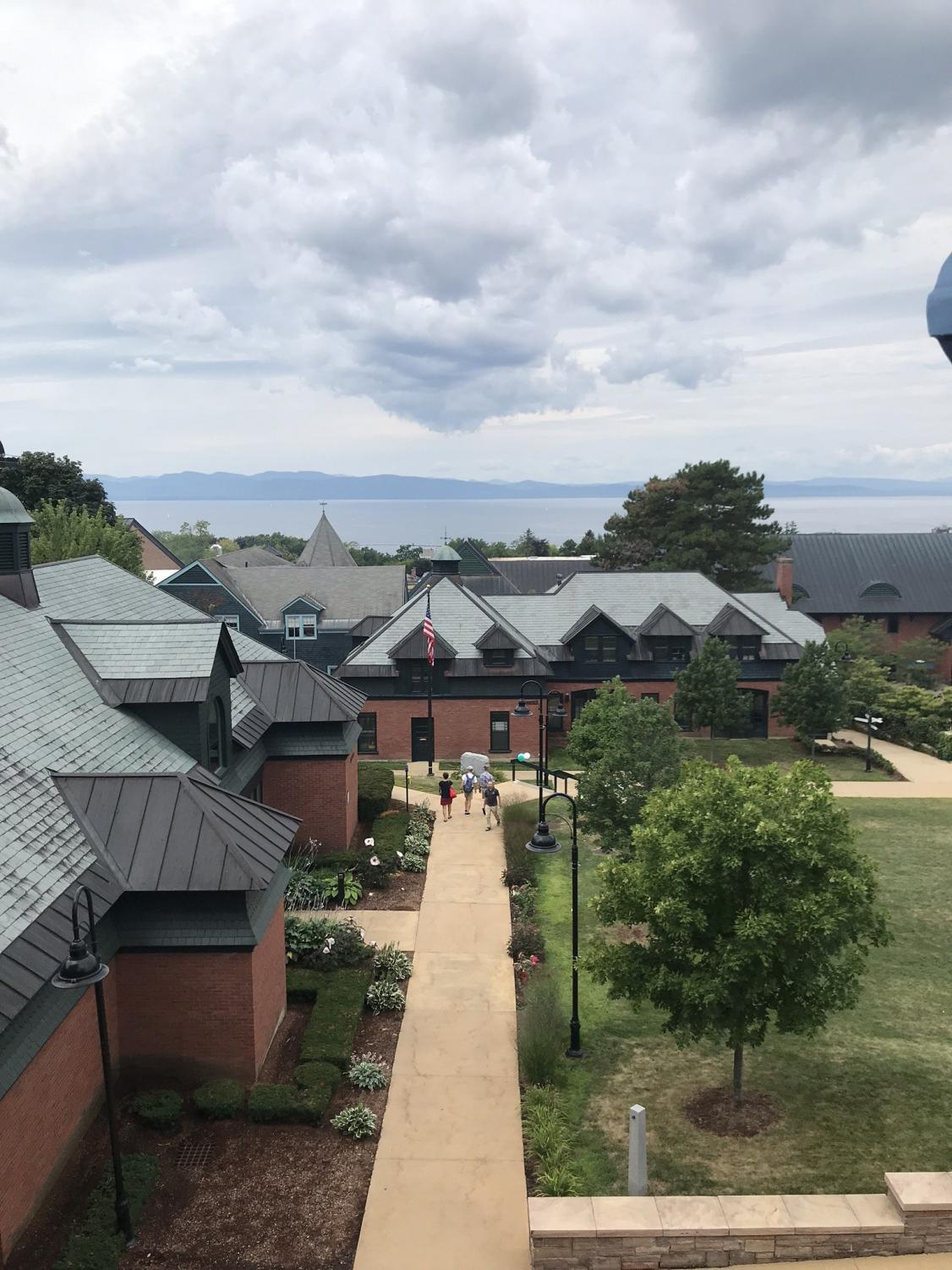 Photo of campus from Library, taken by Haley Seymour in 2019.