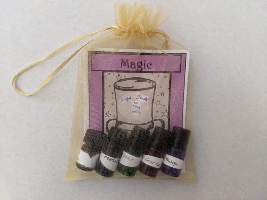Package from Barbara Switzer's essential oils class titled